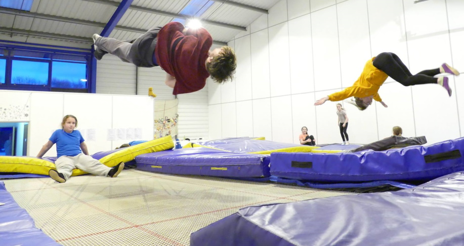 Club members of the trampolining club
