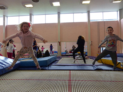 Our trampolining club - who can bounce