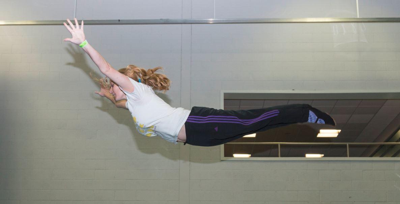 Head trampolining coach Rachel